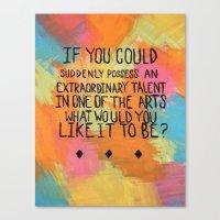 Talent Canvas Print