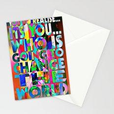 U IS GONNA MAKE CHANGE Stationery Cards