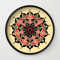 Lotus Peace Print Red Edition Wall Clock