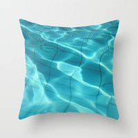 Water / Swimming Pool (Water Abstract) Throw Pillow