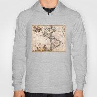 1658 Visscher Map Of Nor… Hoody