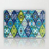 Green & Blue Diamond Boho Pattern Laptop & iPad Skin