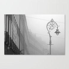 Dublin street lamp in the fog Canvas Print