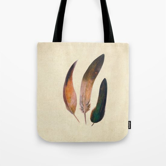 Three Feathers  Tote Bag