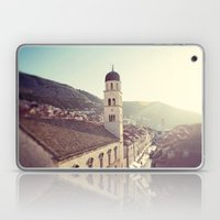 Belltower In Dubrovnik Laptop & iPad Skin