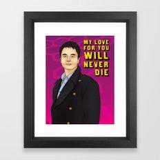 Captain Jack - My Love For You Will Never Die Framed Art Print
