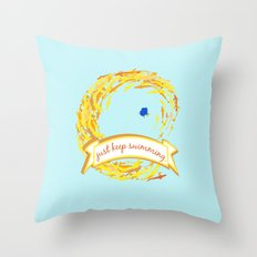 hide and seek dory Throw Pillow