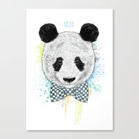 Hello Panda Canvas Print