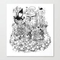 Thursday (line Art) Canvas Print