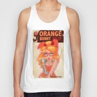 Oranges Bunny PIN UP Mag… Unisex Tank Top