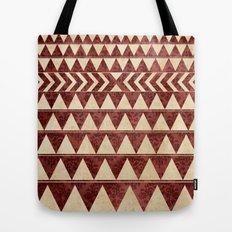 Vintage Material Triangles Tote Bag