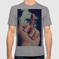 AntiHitler Mens Fitted Tee Athletic Grey SMALL