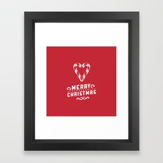 Merry Christmas - Red Framed Art Print