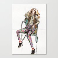 Floral Fashion Canvas Print