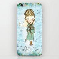 White Tea Girl iPhone & iPod Skin