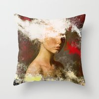 The woman without look Throw Pillow