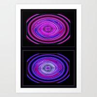 Abstract Modern Circles. Art Print