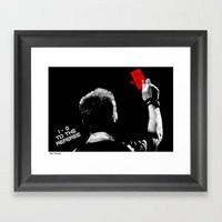 1-0 To The Referee Framed Art Print