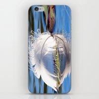 Swan Feather on Lake iPhone & iPod Skin