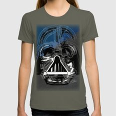 Darth Vader the Grey Womens Fitted Tee Lieutenant SMALL