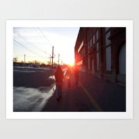 An Allentown Sunset Art Print