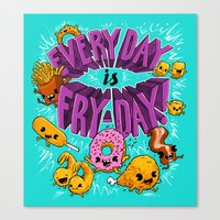 Fry-Day Canvas Print