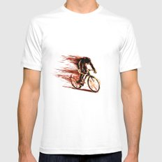 BikeCycling Mens Fitted Tee White SMALL