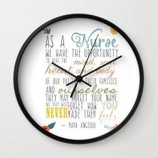 As a Nurse... Wall Clock