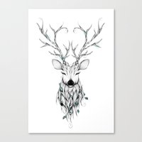 Poetic Deer Canvas Print