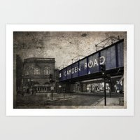 Camden Road Train Station Art Print