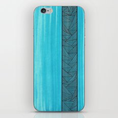 Light Blue Background iPhone & iPod Skin