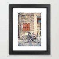bike love::rome, italy Framed Art Print