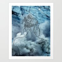 Lonely Woman Art Print