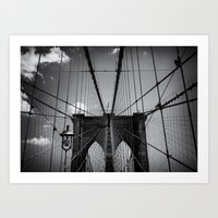 The Brooklyn Bridge Art Print