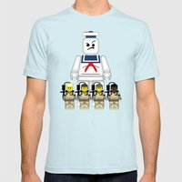 Ghostbusters  Mens Fitted Tee Light Blue SMALL