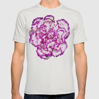 8BIT flower Mens Fitted Tee Silver SMALL