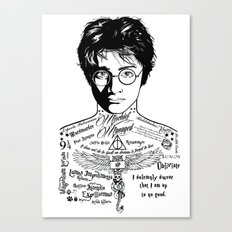 Harry Tattoo Potter Canvas Print