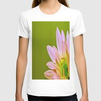 Pink Daisy Womens Fitted Tee White SMALL