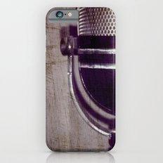Vintage Microphone (scratched) iPhone 6 Slim Case