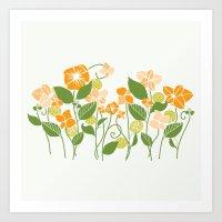 Karis Flowers Art Print