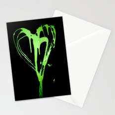 Painted Heart Stationery Cards