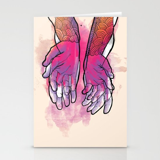 Dirty hands Stationery Card