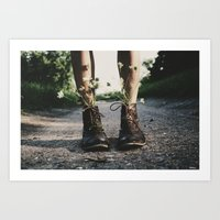 shoes Art Prints featuring shoes by brittneypanda