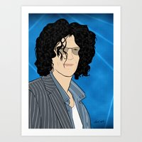 Howard Stern Cartoon Art Print