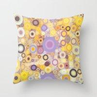 Purple Yellow Washing Ma… Throw Pillow