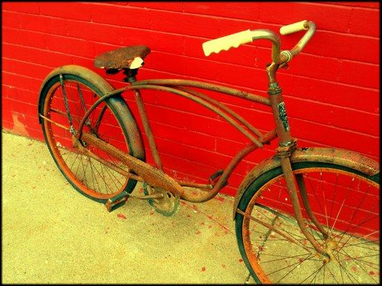 The Old Bike Art Print