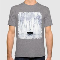 Rain Mens Fitted Tee Tri-Grey SMALL