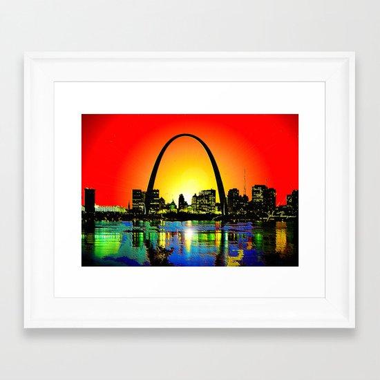 Saint Louis Arch Framed Art Print