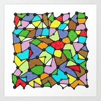 Yzor Pattern 130001 Conn… Art Print