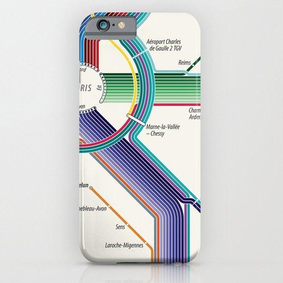 Itinéraires de train à grande vitesse de la France iPhone & iPod Case
